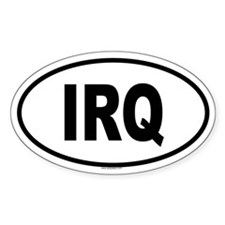 IRQ Oval Decal