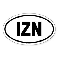 IZN Oval Decal