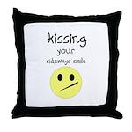 KISING YOUR SIDEWAYS SMILE Throw Pillow