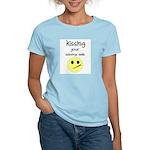 KISING YOUR SIDEWAYS SMILE Women's Pink T-Shirt