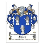 Fane Family Crest Small Poster