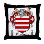 Fitz-Awry Family Crest Throw Pillow