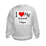 I Heart My Baseball Player Sweatshirt