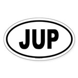 JUP Oval Decal