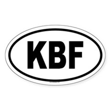 KBF Oval Decal