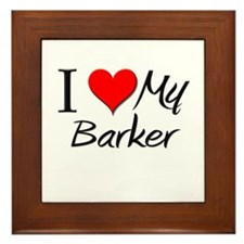 I Heart My Barker Framed Tile