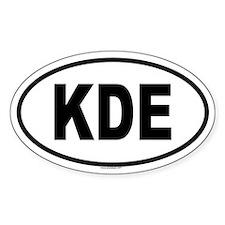 KDE Oval Decal