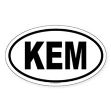 KEM Oval Decal