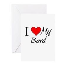 I Heart My Bard Greeting Cards (Pk of 10)