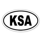 KSA Oval Decal