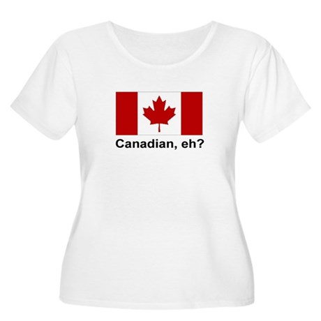 Canadian, eh? Women's Plus Size Scoop Neck T-Shirt