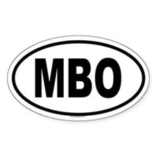 MBO Oval Decal