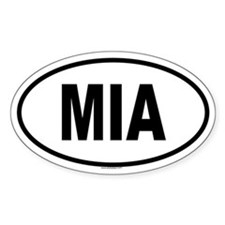 MIA Oval Decal