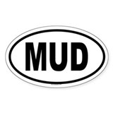MUD Oval Decal