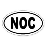 NOC Oval Decal