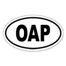 OAP Oval Decal