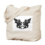 Twin Dragons Tote Bag