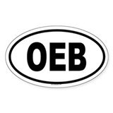 OEB Oval Decal