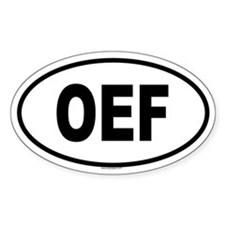 OEF Oval Decal