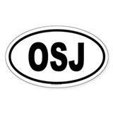 OSJ Oval Decal