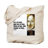 "Shakes ""Eye of Newt"" Tote Bag"