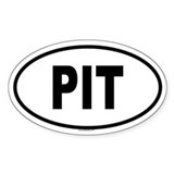 PIT Oval Decal