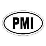 PMI Oval Decal