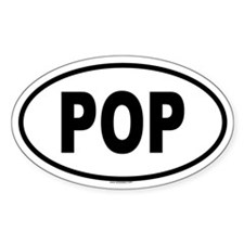 POP Oval Decal