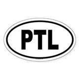 PTL Oval Decal