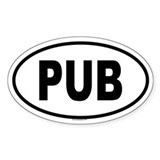 PUB Oval Decal