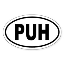 PUH Oval Decal