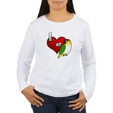 Love Black-Headed Caique Women's Long Sleeved Tee