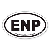 ENP Everglades National Park Euro Oval Decal