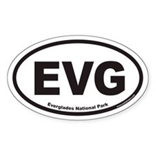 EVG Everglades National Park Euro Oval Decal