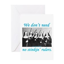 Nuns w/Guns Greeting Card