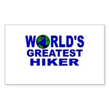 World's Greatest Hiker Rectangle Decal
