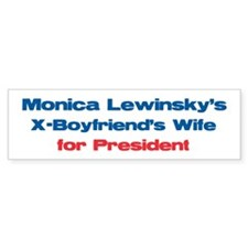 Monica's X - Bumper Car Sticker