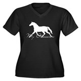 Horse Obsession Women's Plus Size V-Neck T-Shirt