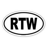 RTW Oval Decal