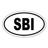 SBI Oval Decal
