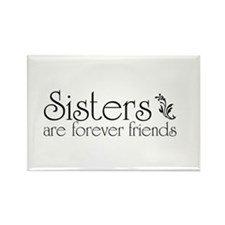 Forever Sisters 3 Rectangle Magnet