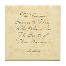 Beauty of Dreams Tile Coaster