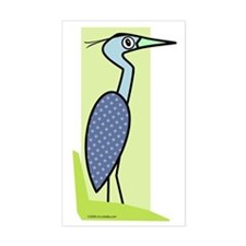 Great Blue Heron Rectangle Decal