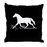Horse Obesession Equestrian Throw Pillow
