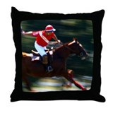 I Play Polo Throw Pillow