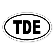 TDE Oval Decal