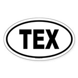 TEX Oval Decal