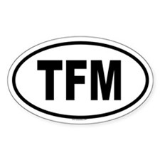 TFM Oval Decal