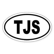 TJS Oval Decal