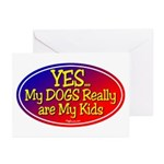 Yes My Dogs Greeting Cards (Pk of 10)